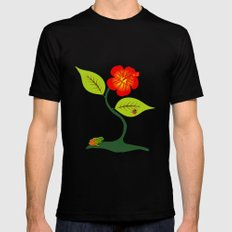 Plant and flower Black MEDIUM Mens Fitted Tee