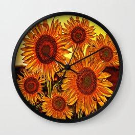 sunflowers family Wall Clock