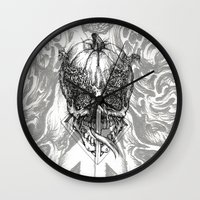 fifth element Wall Clocks featuring element by hueroth