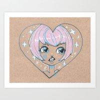 Heart Little Cutie Art Print