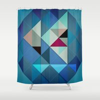 sailboat Shower Curtains featuring Sailboat Abstract by Alyn Spiller