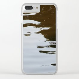 Dark and Clear Water Clear iPhone Case