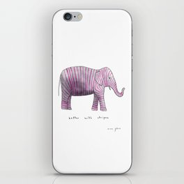 better with stripes iPhone Skin