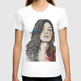 untitled #91020 | zentangle japanese woman portrait T-shirt