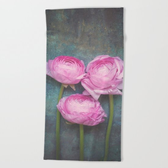 Beautiful Ranunculus Beach Towel
