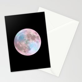Iridescent Dark Moon Stationery Cards