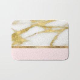 Bari Peach Marble Bath Mat