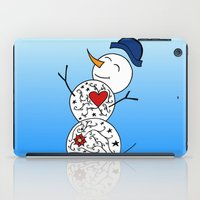 snowman iPad Cases featuring Snowman  by #dancingpenguin