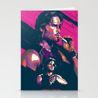 metal gear Stationery Cards featuring ESCAPE FROM METAL GEAR by mergedvisible