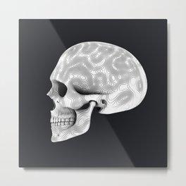 Organic White Skull 02 Metal Print