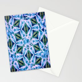 Geometric pattern in purple and blue Stationery Cards