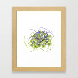 Atom Flowers #13 Framed Art Print