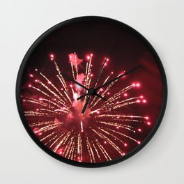 Red Exploding Firework Wall Clock