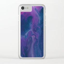 Angel Head Nebula Clear iPhone Case