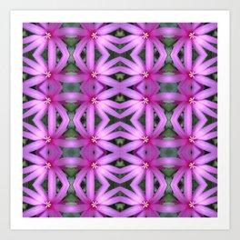 Cactus Breeze Block Art Print