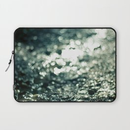 Turquoise Bokeh Party. Laptop Sleeve