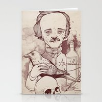poe Stationery Cards featuring Poe by hatrobot