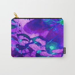 Faerie Botany Violet Purple Violet Blue Abstract Digital Painting Carry-All Pouch