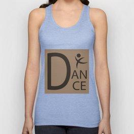 Brown Dance Symbol Unisex Tank Top