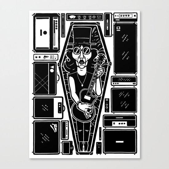 The dead rockstar Canvas Print