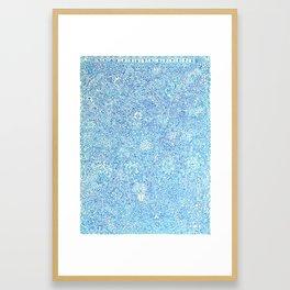 Blue Ornate Framed Art Print
