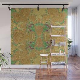 Golden Peacock Modern Abstract Pattern Wall Mural