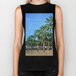 Date Palm Trees Biker Tank