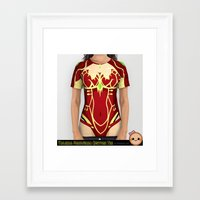 warcraft Framed Art Prints featuring Rogue Costume Tee by SlothgirlArt