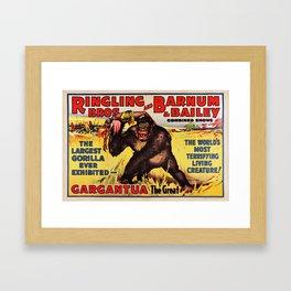 1938 Ringling Brothers and Barnum & Bailey Big Top 'GARGANTUA the Great' Circus Poster Framed Art Print