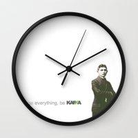 kafka Wall Clocks featuring Kafka Prepa Abierta by Kafka Prepa Abierta