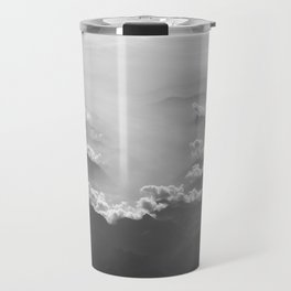 Clouds (Black and White) Travel Mug