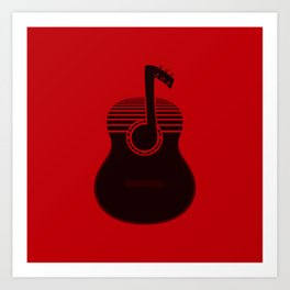 Classical Notes RED Art Print