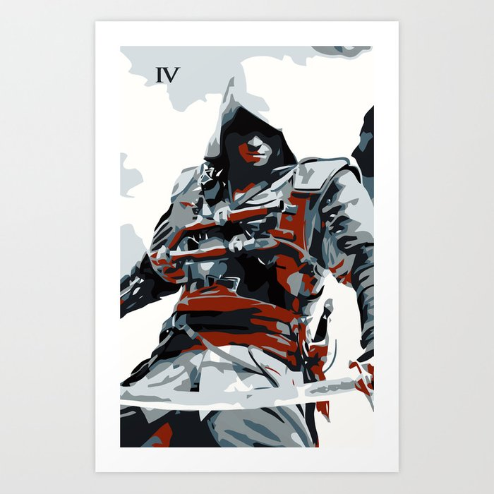Assassin S Creed Iv Black Flag Edward Minimalistic Art Print By