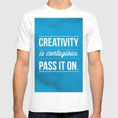 Creativity is contagious, Pass it on! White MEDIUM Mens Fitted Tee