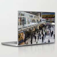 liverpool Laptop & iPad Skins featuring Liverpool Street Station London by David Pyatt