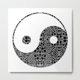 Perfect Balance 1 - Yin and Yang Stone Rock'd Art by Sharon Cummings Metal Print