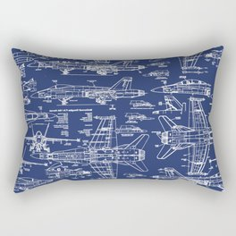 F-18 Blueprints Rectangular Pillow