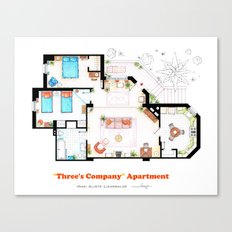 Floorplan of Three's Company Apartment Canvas Print