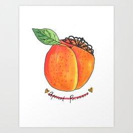 Apricot Princess Art Print