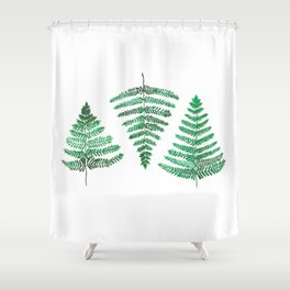 Fiordland Forest Ferns Shower Curtain