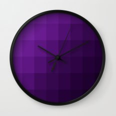 Amethyst Skies Wall Clock