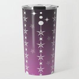 Stars and Night Sky - Purple Gradient Shapes Travel Mug