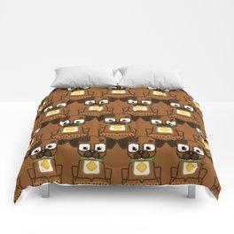 Super cute animals - Cute Brown Puppy Dog Comforters