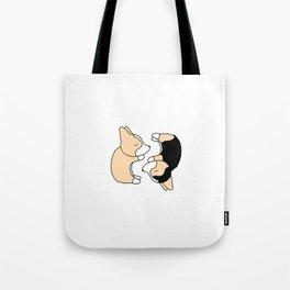 Corgi Dog Yin Yang Tote Bag
