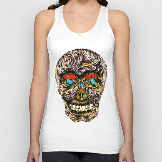 Colorful Skull Unisex Tank Top