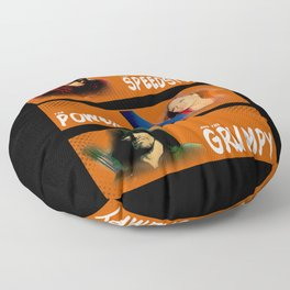 The Speedster, the Powerful, and the Grumpy Floor Pillow
