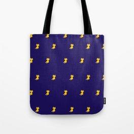 Yellow Cat Pattern - Digital illustration Tote Bag