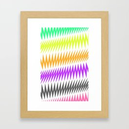 FUNKY STRIPE Framed Art Print