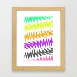 FUNKY STRIPE Framed Art Print