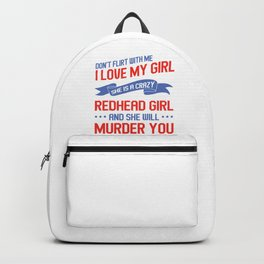 Redhead Girlfriend Ginger Red Hair Redheads Gift Backpack